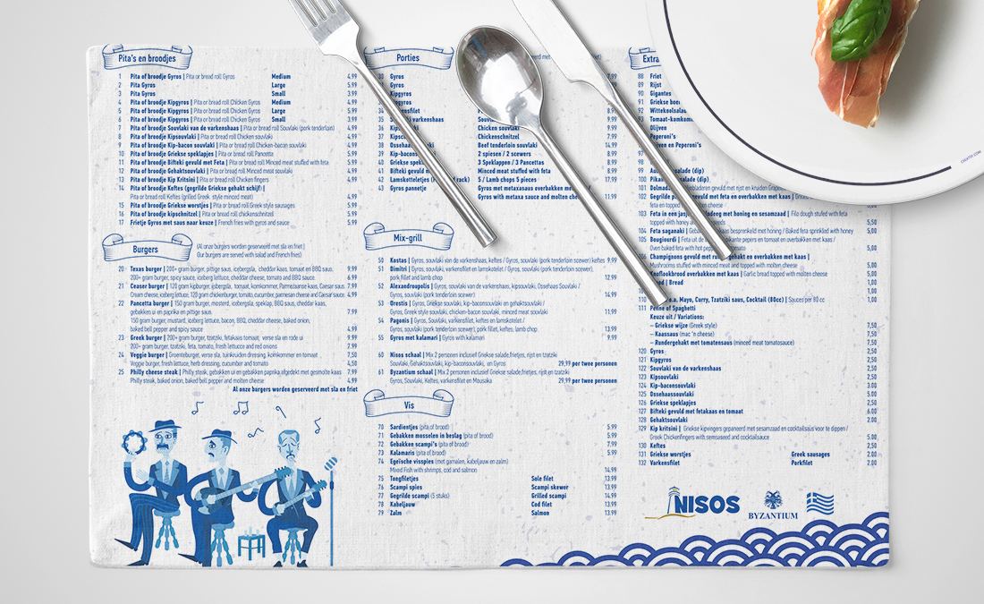 Nisos Grill House Branding and Packaginga